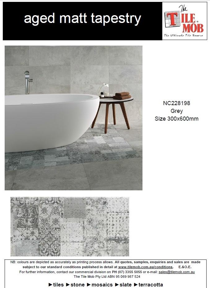 aged matt tapestry tiles