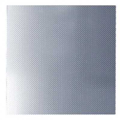 SILVER CHECKERPLATE METAIL