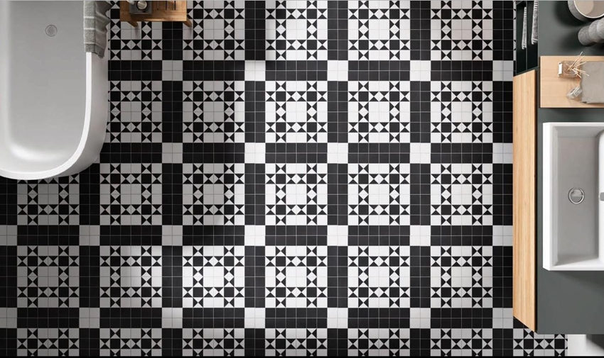 BLACK/WHITE MATT NEW BRISTOL TESSELLATED