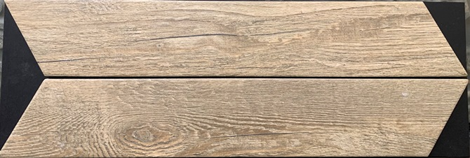BLONDE-OAK MATT CHEVRON GROVEWOOD