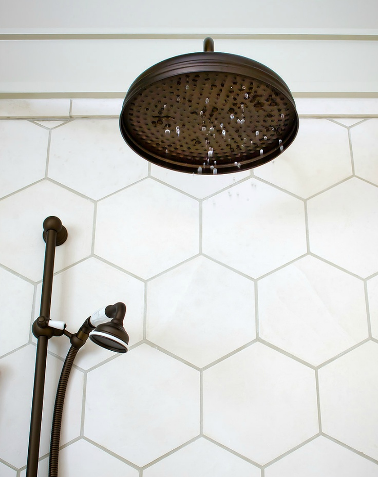 WHITE MATT HEXAGONAL