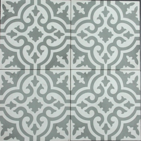 TESSELAAR-GREY/WHITE HONED ENCAUSTIC