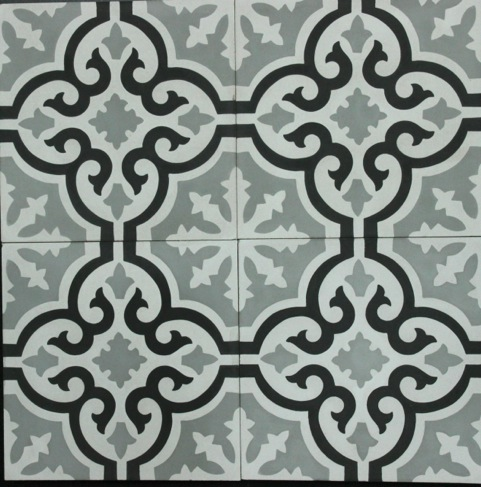 TESSELAAR-GREY/WHITE/BLACK HONED ENCAUSTIC
