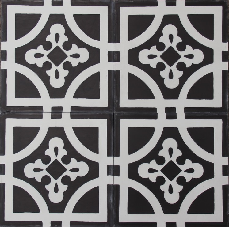 TANTAN-BLACK/WHITE HONED ENCAUSTIC