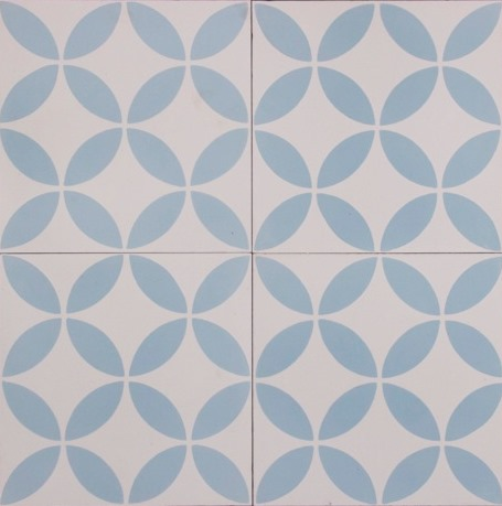 SAFI-BLUE/WHITE HONED ENCAUSTIC