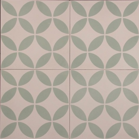 SAFI-GREEN/WHITE HONED ENCAUSTIC