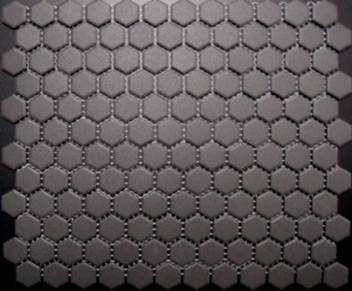 CHARCOAL HEXAGON VITRIFIED MOSAIC