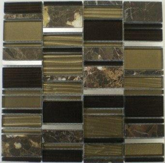 BRONZE-METAL GLASS MARBLE AUGUSTA