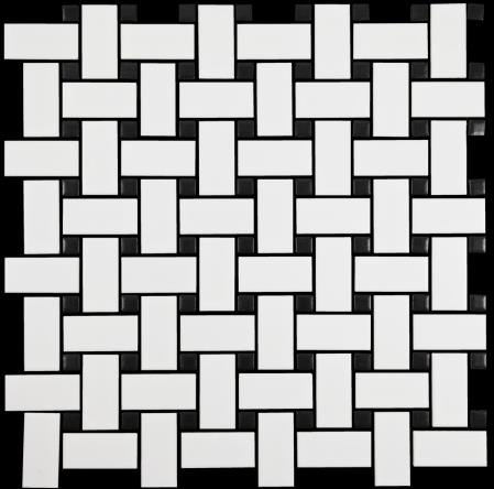 WHITE- BLACK- DOT MATT  BASKETWEAVE-NEO