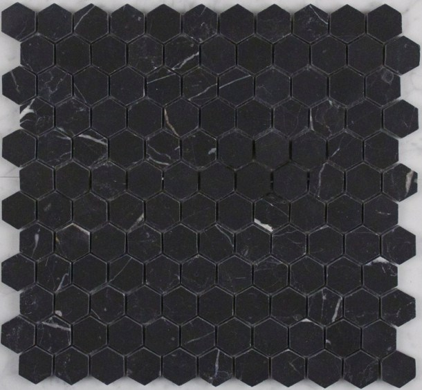 NERO-MARQUINA HONED HEXAGON