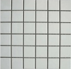 WHITE GLOSS SHEETED MOSAIC