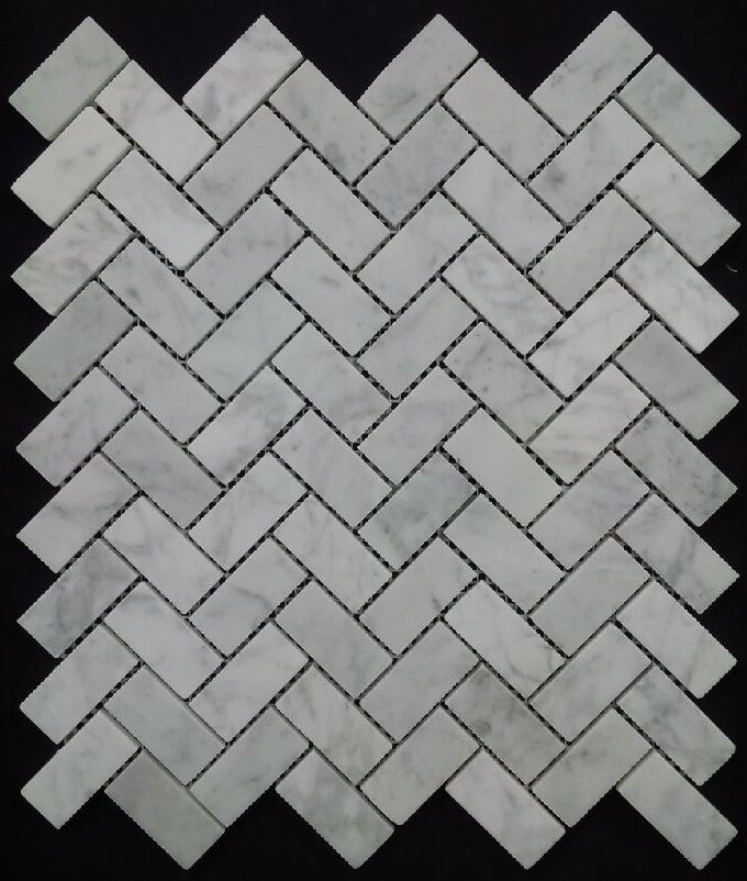 CARRARA HONED HERRINGBONE