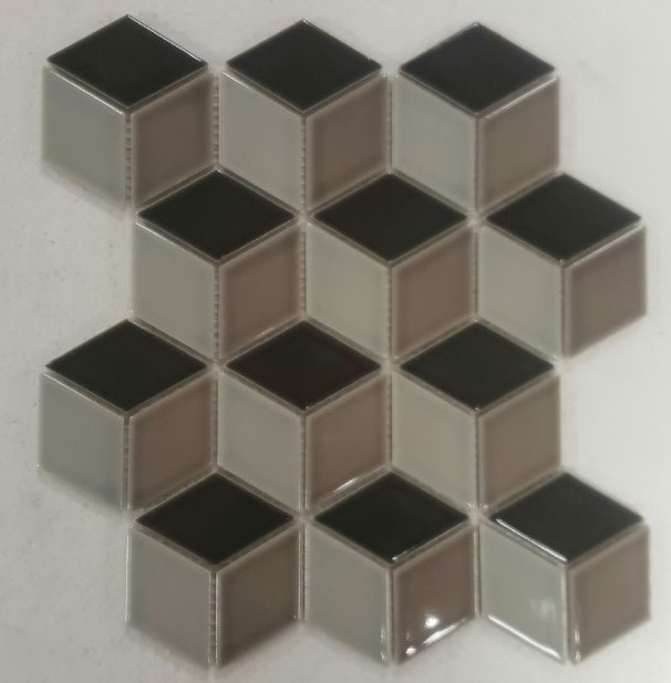 GREY-MIX GLOSS 3D-CUBE