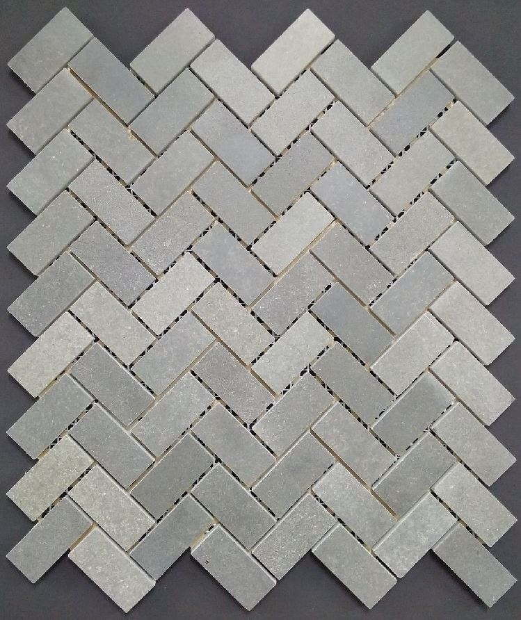 BLUESTONE HONED HERRINGBONE