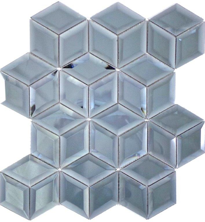 GREY MIRROR GLOSS CUBE DIAMOND