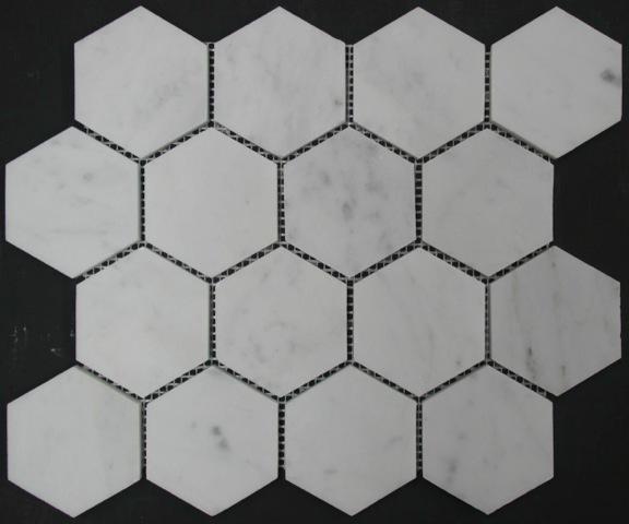 CARRARA HONED HEXAGONAL