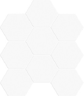BIANCO MATT HEXAGON