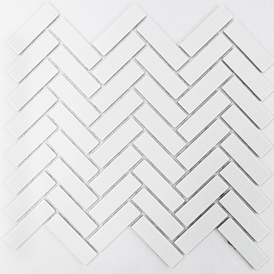 WHITE MATT HERRINGBONE