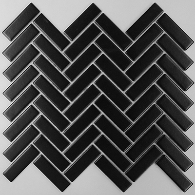 BLACK MATT HERRINGBONE