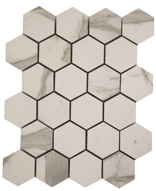 STATUARIO VENATO POLISHED HEX ELEGANT