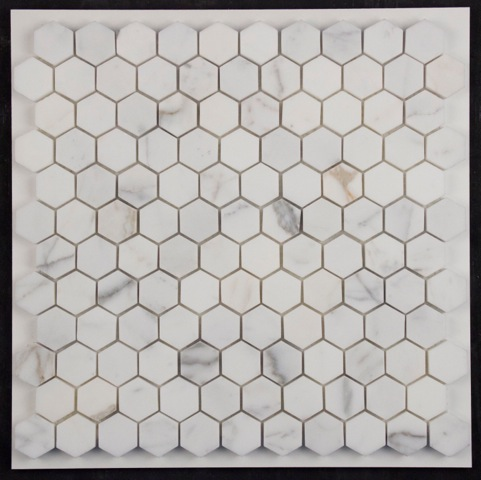 CALACATTA-GOLD HONED HEXAGON