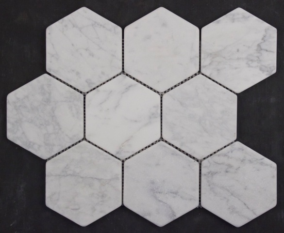 CARRARA TUMBLED HEXAGON