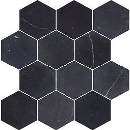 NERO HONED HEXAGON COMO