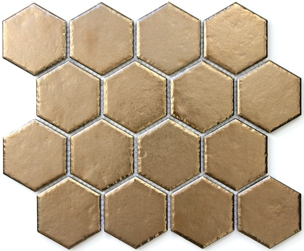 BRASS METAL HEXAGON IMPRESSION