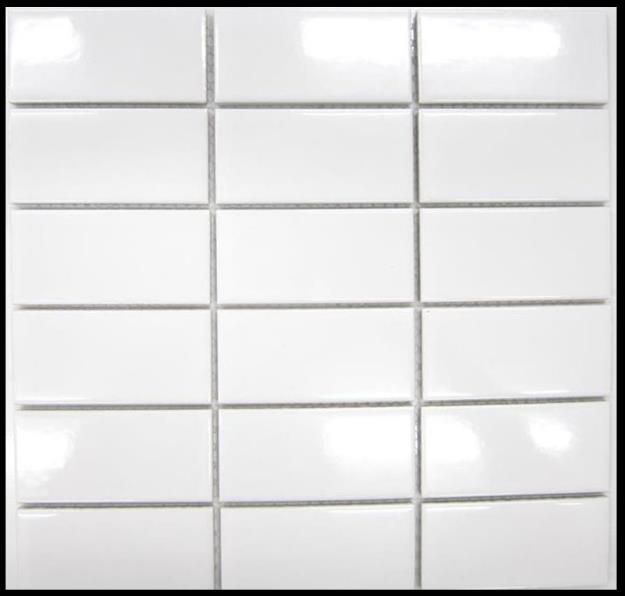 BIANCO GLOSS STACKED MOSAIC