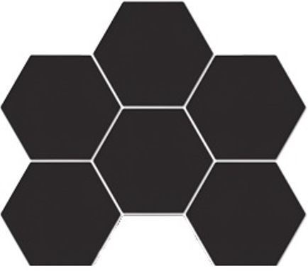 BLACK DECO MATT HEXAGON