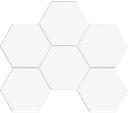 WHITE DECO GLOSS HEXAGON