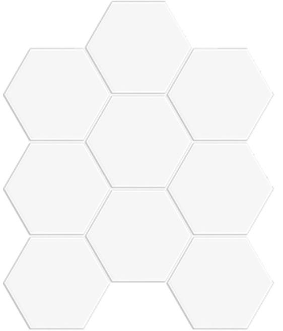 WHITE DECO MATT HEXAGON