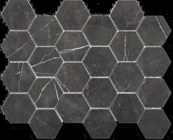PIETRA GREY POLISHED HEX ELEGANT
