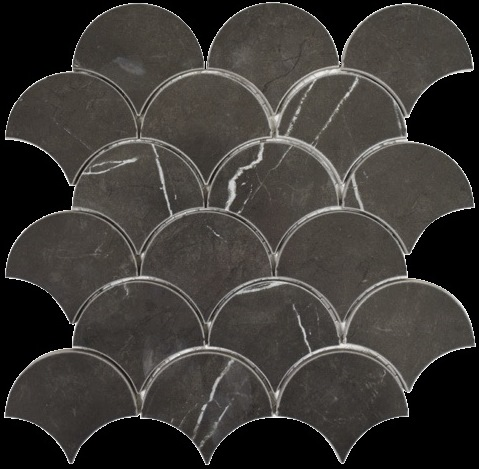 PIETRA-GREY POLISHED FISH SCALE ELEGANT