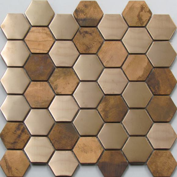 COPPER  MIX HEXAGONAL AMAZING