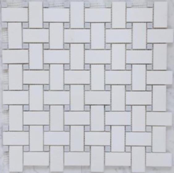 WHITE/GREY HONED & POLISHED BASKETWEAVE