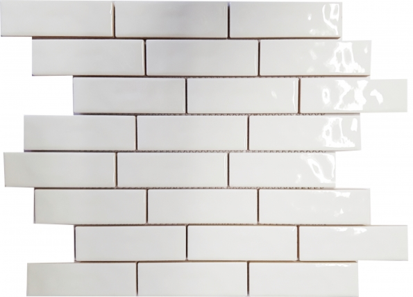 BIANCO GLOSS SUBWAY RIPPLED BRICKBOND