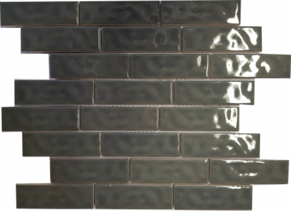 GUNMETAL GLOSS SUBWAY RIPPLED BRICKBOND