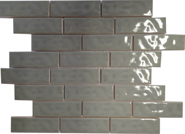 SILVER GLOSS SUBWAY RIPPLED BRICKBOND