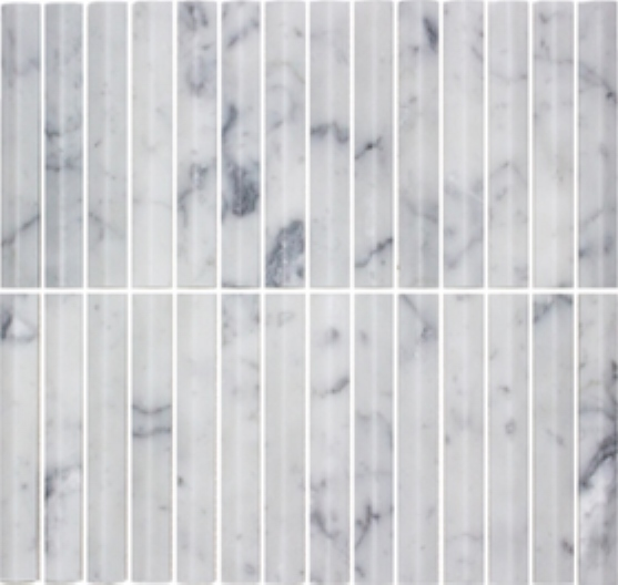 CARRARA HONED SUMMIT STICK FINGER MARBLE MOSAIC