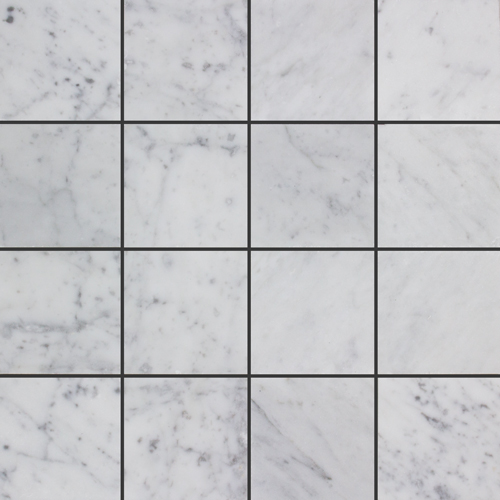 CARRARA HONED SQUARE MARBLE MOSAIC