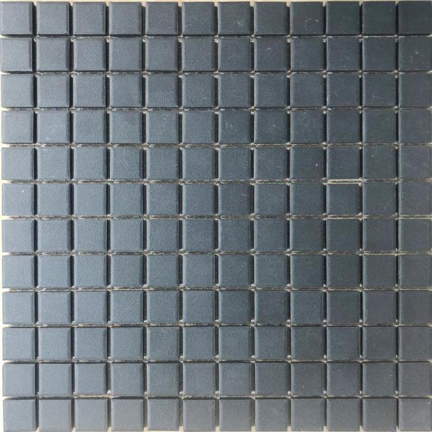 CHARCOAL SQUARE 23MM VITRIFIED MOSAIC