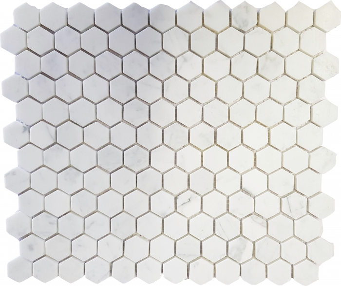 CARRARA POLISHED HEX MARBLE