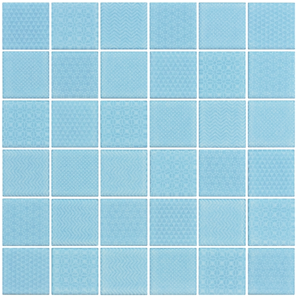 SKY-BLUE PATTERNED GLOSS RECURSO
