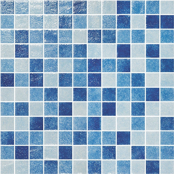 MULTI-BLUES GLASS MOSAIC RIVIERA