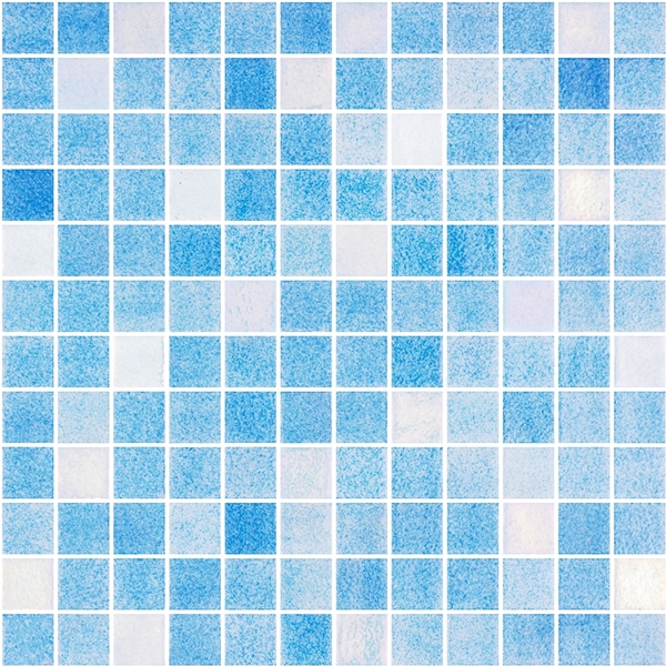MID-BLUE BLEND GLASS MOSAIC RIVIERA