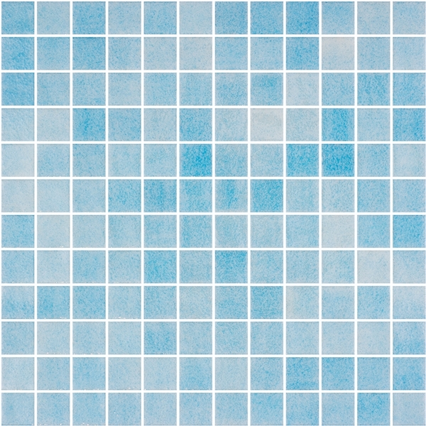 SKY-BLUE BLEND GLASS MOSAIC RIVIERA