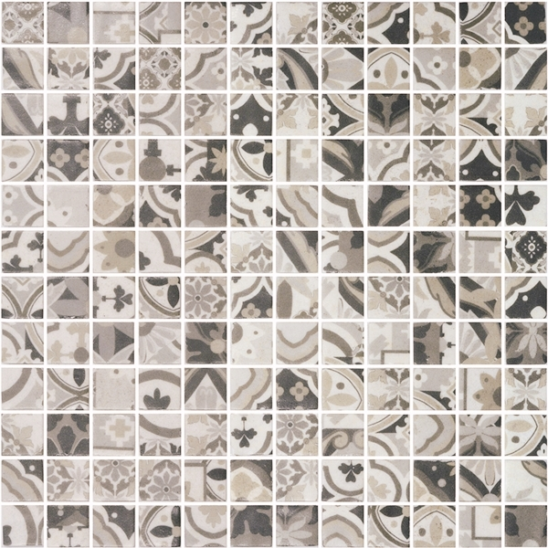 BROWN PATTERN GLASS MOSAIC RIVIERA