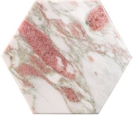 NORWEGIAN-ROSE HONED HEXAGONAL MARBLE