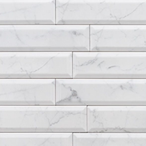 CARRARA HONED BEVEL SUBWAY MARBLE